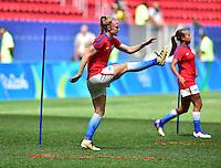 Brasilia, Brazil - Friday, August 12, 2016: The USWNT take on Sweden in Quarterfinal play during the 2016 Olympics at Mane Garrincha Stadium.