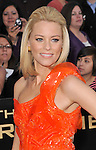 Elizabeth Banks at the premiere for The Hunger Games .held at the Nokia Theatre L.A. Live Los Angeles, CA. March 12, 2012.