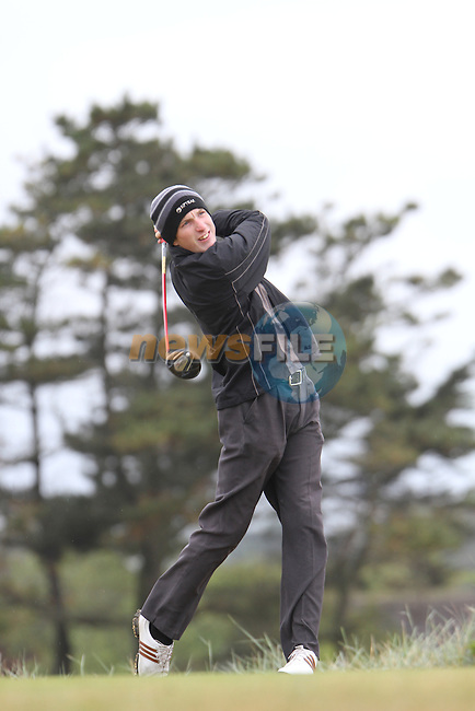 Gavin Smyth (Clonmel) on the 11th Tee, Day 2 at the East of Ireland Amateur Open Championship 2011 in Co.Louth Golf Club....(Photo credit should read Jenny Matthews www.newsfile.ie)....This Picture has been sent you under the conditions enclosed by:.Newsfile Ltd..The Studio,.Millmount Abbey,.Drogheda,.Co Meath..Ireland..Tel: +353(0)41-9871240.Fax: +353(0)41-9871260.GSM: +353(0)86-2500958.email: pictures@newsfile.ie.www.newsfile.ie.