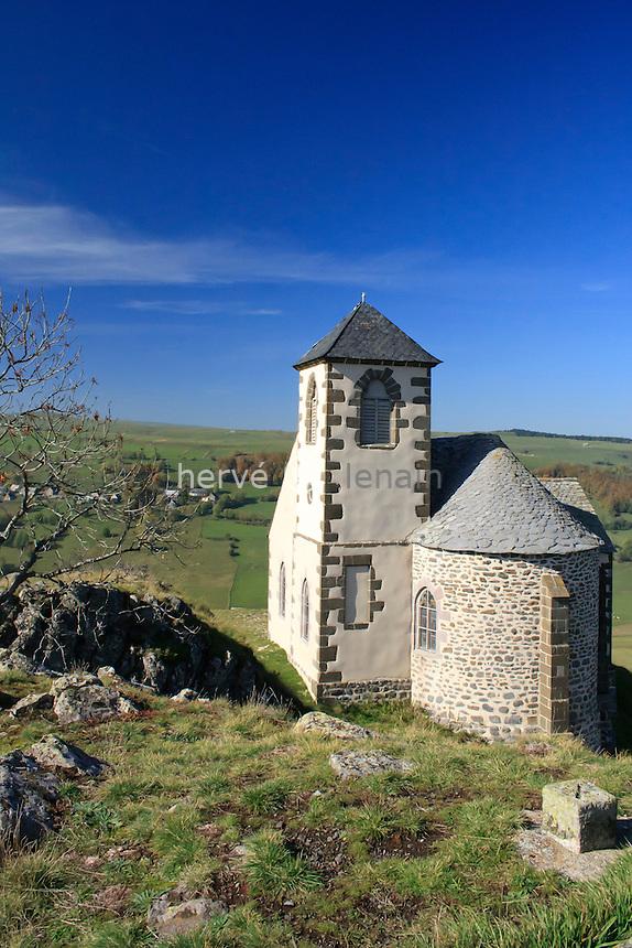 France, Cantal (15), Ségur-les-Villas, chapelle Notre-Dame de Valentine // France, Cantal, Ségur-les-Villas, chapel Notre-Dame of Valentine