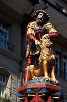Schweiz, Simsonbrunnen in der Kramgasse in Bern, Unesco-Weltkulturerbe