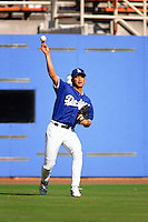 Chin-Feng Chen of the Los Angeles Dodgers during a game at Dodger Stadium circa 1999 in Los Angeles, California. (Larry Goren/Four Seam Images)