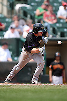 Louisville Bats shortstop Zack Cozart #7 during a game against the Rochester Red Wings at Frontier Field on May 12, 2011 in Rochester, New York.  Louisville defeated Rochester 5-2.  Photo By Mike Janes/Four Seam Images