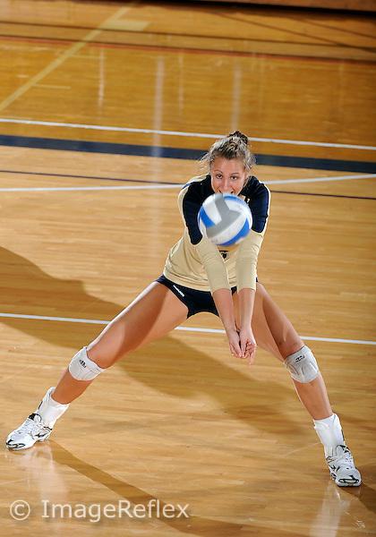 Florida International University women's volleyball player Jessica Egan (6) plays against Florida A&M University.  FIU won the match 3-0 on September 11, 2011 at Miami, Florida. .