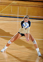 Florida International University women's volleyball player Jessica Egan (6) plays against Florida A&M University.  FIU won the match 3-0 on September 11, 2011 at Miami, Florida. .