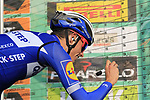 Enric Mas Nicolau (ESP) Quick-Step Floors at sign on before the start of the 112th edition of Il Lombardia 2018, the final monument of the season running 241km from Bergamo to Como, Lombardy, Italy. 13th October 2018.<br /> Picture: Eoin Clarke | Cyclefile<br /> <br /> <br /> All photos usage must carry mandatory copyright credit (© Cyclefile | Eoin Clarke)