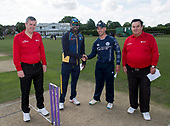 Cricket Scotland - Scotland V Sri Lanka at Kent County cricket ground at Benkenham, in the first of two matches on Sunday (today and Tuesday) - Alan Haggo, Angelo Matthews, Con de Lange and Alex Dowdalls - picture by Donald MacLeod - 21.05.2017 - 07702 319 738 - clanmacleod@btinternet.com - www.donald-macleod.com