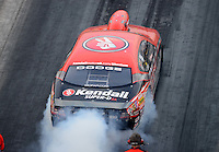 Jun. 29, 2012; Joliet, IL, USA: NHRA pro stock driver V. Gaines during qualifying for the Route 66 Nationals at Route 66 Raceway. Mandatory Credit: Mark J. Rebilas-