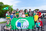The Green Flag Committee from Knockanure National School, pictured with teacher Noreen Buckley, and their fourth Green Flag.