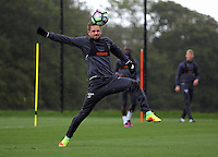 Pictured: Gylfi Sigurdsson in action Thursday 29 September 2016<br /> Re: Swansea City FC training at Fairwood, Wales, UK