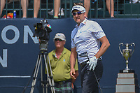 Ian Poulter (GBR) watches his tee shot on 1 during round 4 of the Houston Open, Golf Club of Houston, Houston, Texas. 4/1/2018.<br /> Picture: Golffile | Ken Murray<br /> <br /> <br /> All photo usage must carry mandatory copyright credit (&copy; Golffile | Ken Murray)