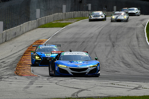 IMSA WeatherTech SportsCar Championship<br /> Continental Tire Road Race Showcase<br /> Road America, Elkhart Lake, WI USA<br /> Sunday 6 August 2017<br /> 93, Acura, Acura NSX, GTD, Andy Lally, Katherine Legge<br /> World Copyright: Richard Dole<br /> LAT Images<br /> ref: Digital Image RD_RA_2017_024