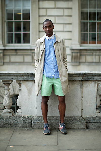DaShaun Hightower  London Fashion Week Street Style at Somerset House