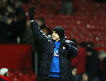 Richard Money manager of Cambridge Utd salutes the fans - FA Cup Fourth Round replay - Manchester Utd  vs Cambridge Utd - Old Trafford Stadium  - Manchester - England - 03rd February 2015 - Picture Simon Bellis/Sportimage