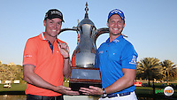 Danny Willett (ENG) wins the Final Round of the 2016 Omega Dubai Desert Classic, played on the Emirates Golf Club, Dubai, United Arab Emirates.  07/02/2016. Picture: Golffile | David Lloyd<br /> <br /> All photos usage must carry mandatory copyright credit (&copy; Golffile | David Lloyd)