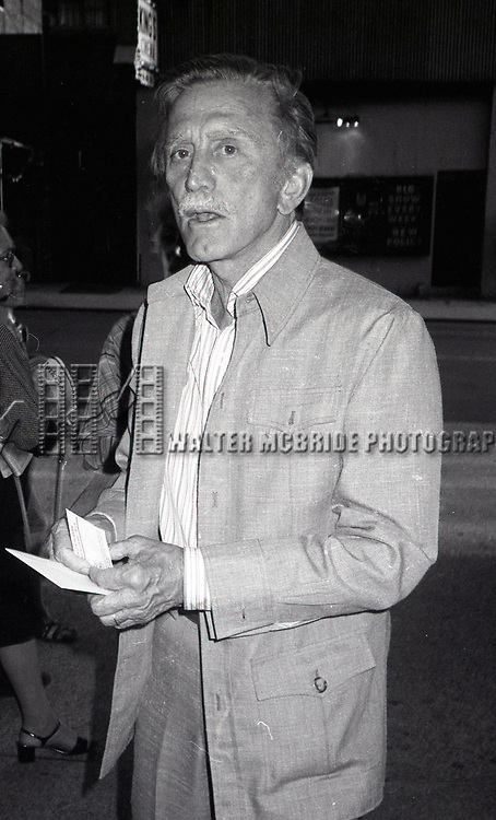 Kirk Douglas attending a Broadway show on June 1, 1981 in New York City.