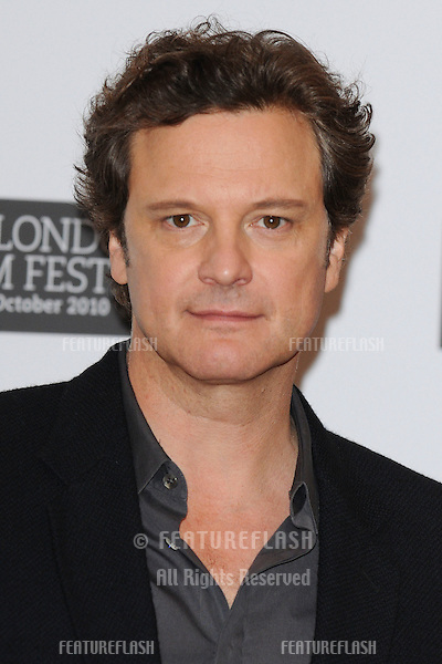 """Colin Firth at the press conference of """"The King's Speach"""" as part of the 2010 London Film Festival, at the Vue cinema, Leicester Square, London.  21/10/2010  Picture by: Steve Vas / Featureflash"""