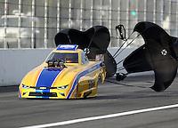 Feb 9, 2017; Pomona, CA, USA; NHRA top alcohol funny car driver Sean Bellemeur during qualifying for the Winternationals at Auto Club Raceway at Pomona. Mandatory Credit: Mark J. Rebilas-USA TODAY Sports