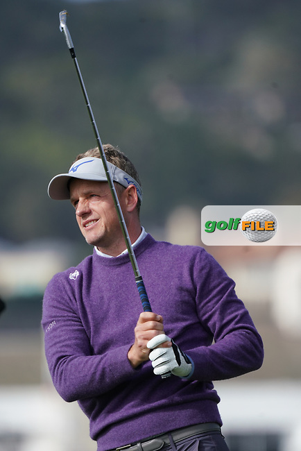 Luke Donald (ENG) in action during the third round of the AT&T Pro-Am, Pebble Beach, Monterey, California, USA. 07/02/2020<br /> Picture: Golffile | Phil Inglis<br /> <br /> <br /> All photo usage must carry mandatory copyright credit (© Golffile | Phil Inglis)