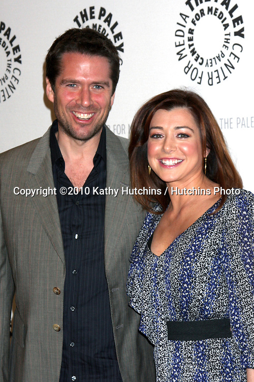 """Alexis Denisof & Alyson Hannigan.arriving at the  """"How I Met Your Mother"""" 100th Episode Celebration .Paley Center for Media.Beverly Hills, CA.January 7, 2010.©2010 Kathy Hutchins / Hutchins Photo."""