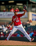 24 February 2019: St. Louis Cardinals top prospect pitcher Giovanny Gallegos on the mound during a Spring Training game against the Washington Nationals at Roger Dean Stadium in Jupiter, Florida. The Cardinals fell to the Nationals 12-2 in Grapefruit League play. Mandatory Credit: Ed Wolfstein Photo *** RAW (NEF) Image File Available ***