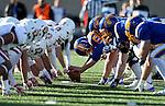 BROOKINGS, SD - NOVEMBER 12: South Dakota State University battles the University of South Dakota n the first half at the Dana J. Dykhouse Stadium November 12, 2016 in Brookings, South Dakota. (Photo by Dave Eggen/Inertia)