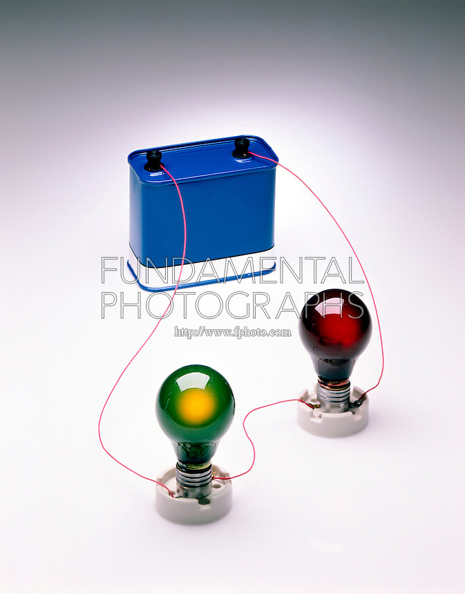 SERIES CIRCUIT: 12V BATTERY &amp; 2 LIT BULBS<br /> A series circuit is a circuit in which resistors are arranged in a chain, so the current has only one path to take. The current is the same through each resistor. The total resistance is found by adding the resistance values of each resistor.