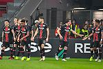 08.11.2018, BayArena, Leverkusen, Europaleque, Vorrunde, GER, UEFA EL, Bayer 04 Leverkusen (GER) vs. FC Zuerich (SUI),<br />  <br /> DFL regulations prohibit any use of photographs as image sequences and/or quasi-video<br /> <br /> im Bild / picture shows: <br /> Torjubel / Jubel / Jubellauf,    nach dem 1:0 durch Tin Jedvaj (Leverkusen #16), <br /> <br /> Foto &copy; nordphoto / Meuter<br /> <br /> <br /> <br /> Foto &copy; nordphoto / Meuter