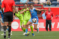 Bridgeview, IL - Sunday June 04, 2017: Lauren Barnes, Danielle Colaprico during a regular season National Women's Soccer League (NWSL) match between the Chicago Red Stars and the Seattle Reign FC at Toyota Park. The Red Stars won 1-0.