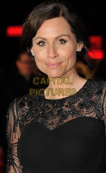 Minnie Driver .attends the UK Premiere of 'I Give It A Year', Vue West End cinema, London, England, UK, 24th January 2013..portrait headshot  black lace beaded sheer .CAP/WIZ.© Wizard/Capital Pictures.