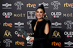 Carolina Yuste (Best Supporting Actress award) attends to 33rd Goya Awards at Fibes - Conference and Exhibition  in Seville, Spain. February 02, 2019. (ALTERPHOTOS/A. Perez Meca)