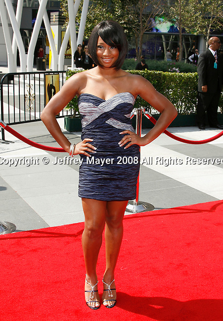 LOS ANGELES, CA. - September 13: Actress Monique Coleman arrives at the 60th Primetime Creative Arts Emmy Awards held at Nokia Theatre on September 13, 2008 in Los Angeles, California.