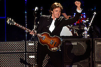 INDIO, CA-- APRIL 17, 2009-- Sir Paul McCartney performs as the headliner of the Main Stage at  the Coachella Music and Arts Festival at the Empire Polo Field in Indio, April 17, 2009.