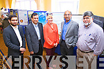 Pictured at the Islamic event in the Brandon hotel, Tralee, on Saturday were l-r: Rizwan Kahn, Tralee (chairperson of Kerry Islamic Outreach) Altaf Memon, Councillor Toireasa Ferris,  Imran Sharif and Faizal Siddiquy.