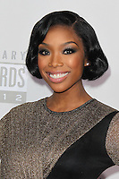 LOS ANGELES, CA - NOVEMBER 18: Brandy at the 40th American Music Awards held at Nokia Theatre L.A. Live on November 18, 2012 in Los Angeles, California. Credit: mpi20/MediaPunch Inc. NortePhoto
