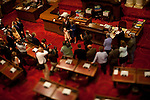State Senator Sam Blakeslee, R-San Luis Obispo, is sworn into office in the Senate Chambers at the State Capitol, Sacramento, Calif. August 23, 2010.