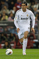 11.04.2012 MADRID, SPAIN - La Liga match played between At. Madrid vs Real Madrid (1-4) with hat-trick of Cristiano Ronaldo at Vicente Calderon stadium. The picture show Ricardo Izecson Kaka (Brazilian midfielder of Real Madrid)