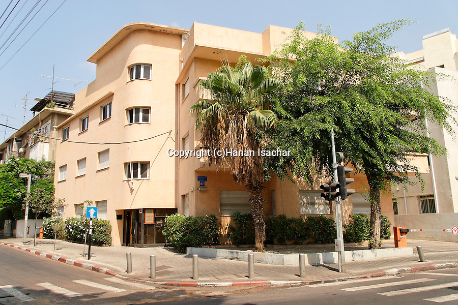 Israel, Tel Aviv. Samuelson house on Rothschild Boulevard, a Bauhaus style building