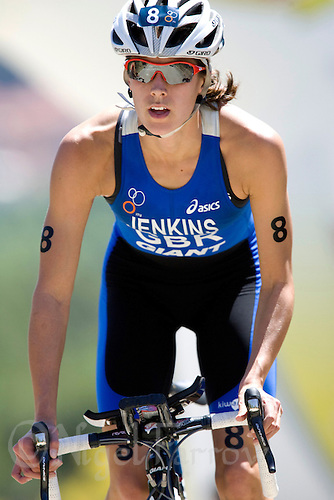 31 MAY 2009 - MADRID,ESP - Helen Jenkins - ITU World Championships Series Womens Triathlon .(PHOTO (C) NIGEL FARROW)