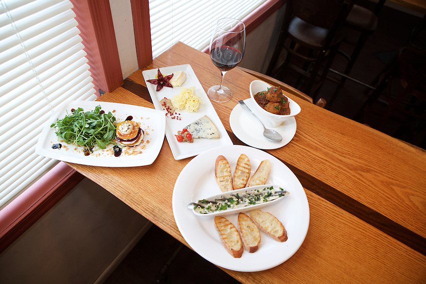 Jersey City, NJ - January 14, 2016: Small plate dishes at Third and Vine, a Cheese and Wine Tavern in the Historic Downtown District. CREDIT: Clay Williams for Edible Jersey.<br /> <br /> <br /> &copy; Clay Williams / claywilliamsphoto.com