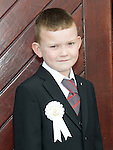Ronan Clinton who received first holy communion at St Mary's church . Photo:Colin Bell/pressphotos.ie