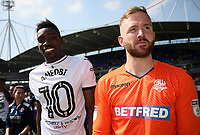 Bolton Wanderers' Sammy Ameobi and Ben Alnwick<br /> <br /> Photographer Andrew Kearns/CameraSport<br /> <br /> The EFL Sky Bet Championship - Bolton Wanderers v Nottingham Forest - Sunday 6th May 2018 - Macron Stadium - Bolton<br /> <br /> World Copyright &copy; 2018 CameraSport. All rights reserved. 43 Linden Ave. Countesthorpe. Leicester. England. LE8 5PG - Tel: +44 (0) 116 277 4147 - admin@camerasport.com - www.camerasport.com
