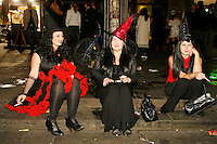 Halloween in Temple Bar Dublin,Ireland.<br /> Halloween is a holiday celebrated on the night of October 31. Traditional activities include trick-or-treating, bonfires, costume parties, visiting &amp;quot;haunted houses&amp;quot; and carving jack-o-lanterns. The term Halloween is shortened from All-hallow-even, as it is the eve of &amp;quot;All Hallows' Day&amp;quot;,[1] which is now also known as All Saints' Day. Some modern Halloween traditions developed out of older pagan traditions, especially surrounding the Irish holiday Samhain, a day associated both with the harvest and otherworldly spirits. Irish and Scottish immigrants carried versions of the tradition to North America in the nineteenth century. Other western countries embraced the holiday in the late twentieth century. Halloween is now celebrated in several parts of the Western world. Celtic cultures, hold that Halloween is one of the liminal times of the year when spirits can make contact with the physical world, and when magic is most potent.<br /> <br /> Pictures James Horan