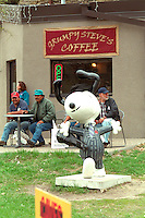 Musician Snoopy hanging out at Cinco de Mayo festival.  St Paul Minnesota USA