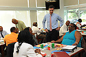 John White, Louisiana superintendent of education, talks to Orleans Parish School teachers..