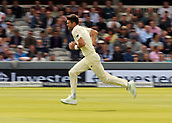 7th September 2017, Lords Cricket Ground, London, England; International Test Match Series, Third Test, Day 1; England versus West Indies; England Bowler James Anderson starts his over