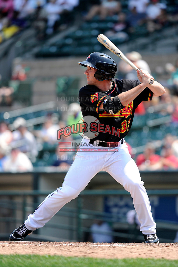 Rochester Red Wings outfielder Clete Thomas #33 during a game against the Durham Bulls at Frontier Field on June 21, 2012 in Rochester, New York.  Durham defeated Rochester 14-8.  (Mike Janes/Four Seam Images)