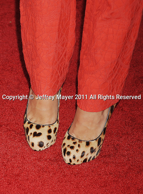 BEVERLY HILLS, CA - AUGUST 03: Rachel Bilson (leopard print shoe detail) at the TCA Party for CBS, The CW and Showtime held at The Pagoda on August 3, 2011 in Beverly Hills, California.