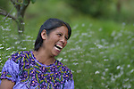 Maria Valentina Lopez laughs during a workshop at an eco-agricultural training center in Comitancillo, Guatemala. The center is sponsored by the Maya Mam Association for Investigation and Development (AMMID).