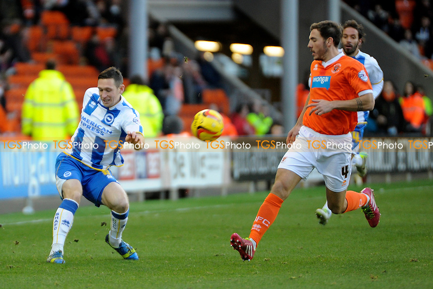 Andrew Crofts of Brighton and Hove Albion sends in a cross - Blackpool vs Brighton & Hove Albion - Sky Bet Championship Football at Bloomfield Road, Blackpool, Lancashire - 29/12/13 - MANDATORY CREDIT: Greig Bertram/TGSPHOTO - Self billing applies where appropriate - 0845 094 6026 - contact@tgsphoto.co.uk - NO UNPAID USE